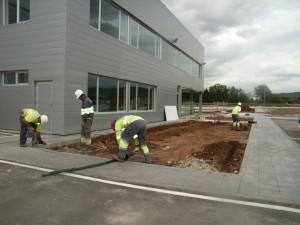 Instalación de sistema de riego aut. por goteo subterráneo para irrigación de gramínea cespitosa
